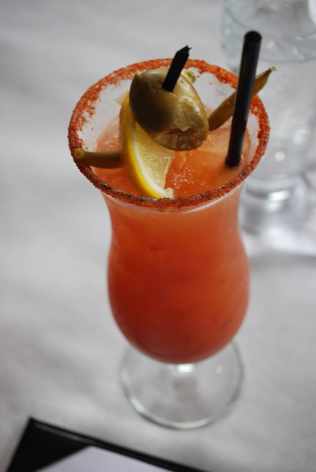 bloody mary at The Half Shell Restaurant