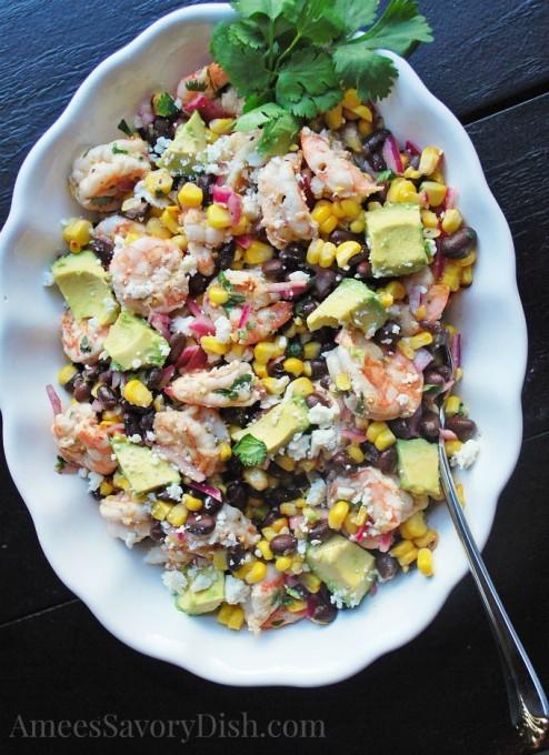 Grilled Mexican Shrimp salad