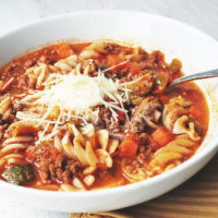 Easy and delicious gluten-free lasagna soup