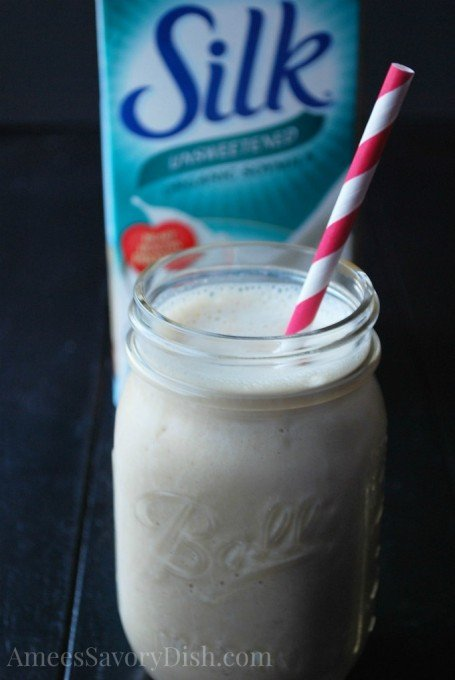silk peanut butter and banana protein smoothie