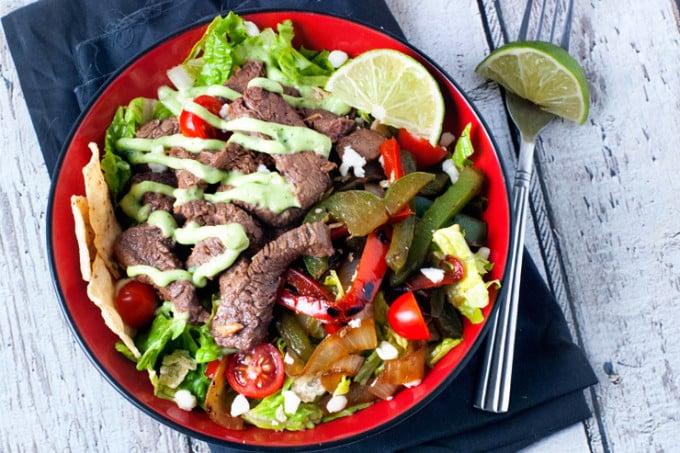 Skillet Steak Fajita Salad