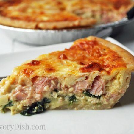 Gluten Free Ham & Gruyere Quiche
