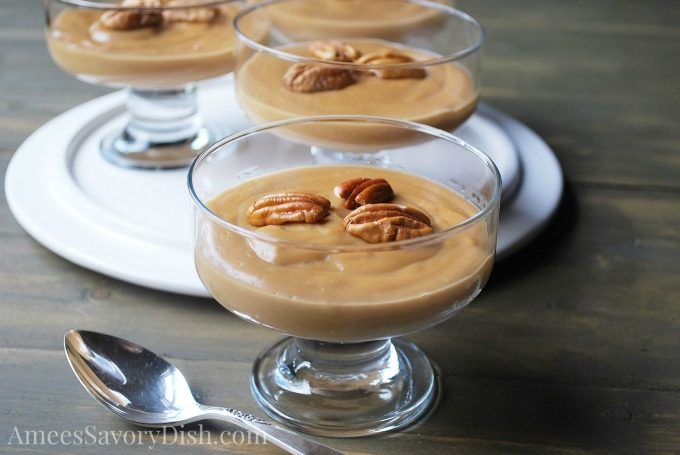 Gluten-Free Homemade Butterscotch Pudding is made with coconut sugar & low-fat milk for a delicious healthier dessert.