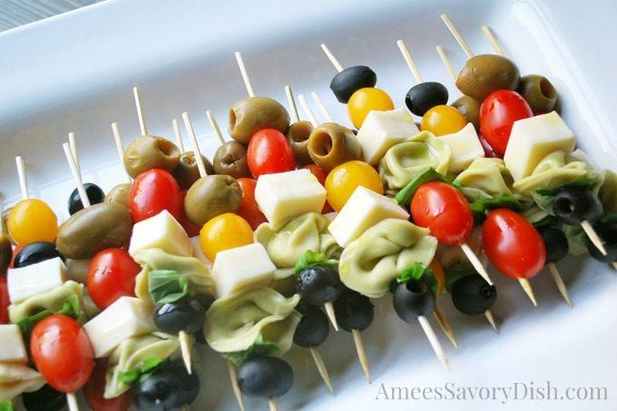 Easy Breezy Caprese pasta skewers