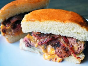 Pimento cheese stuffed burgers
