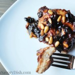 grilled chicken with plum sauce and pine nuts recipe