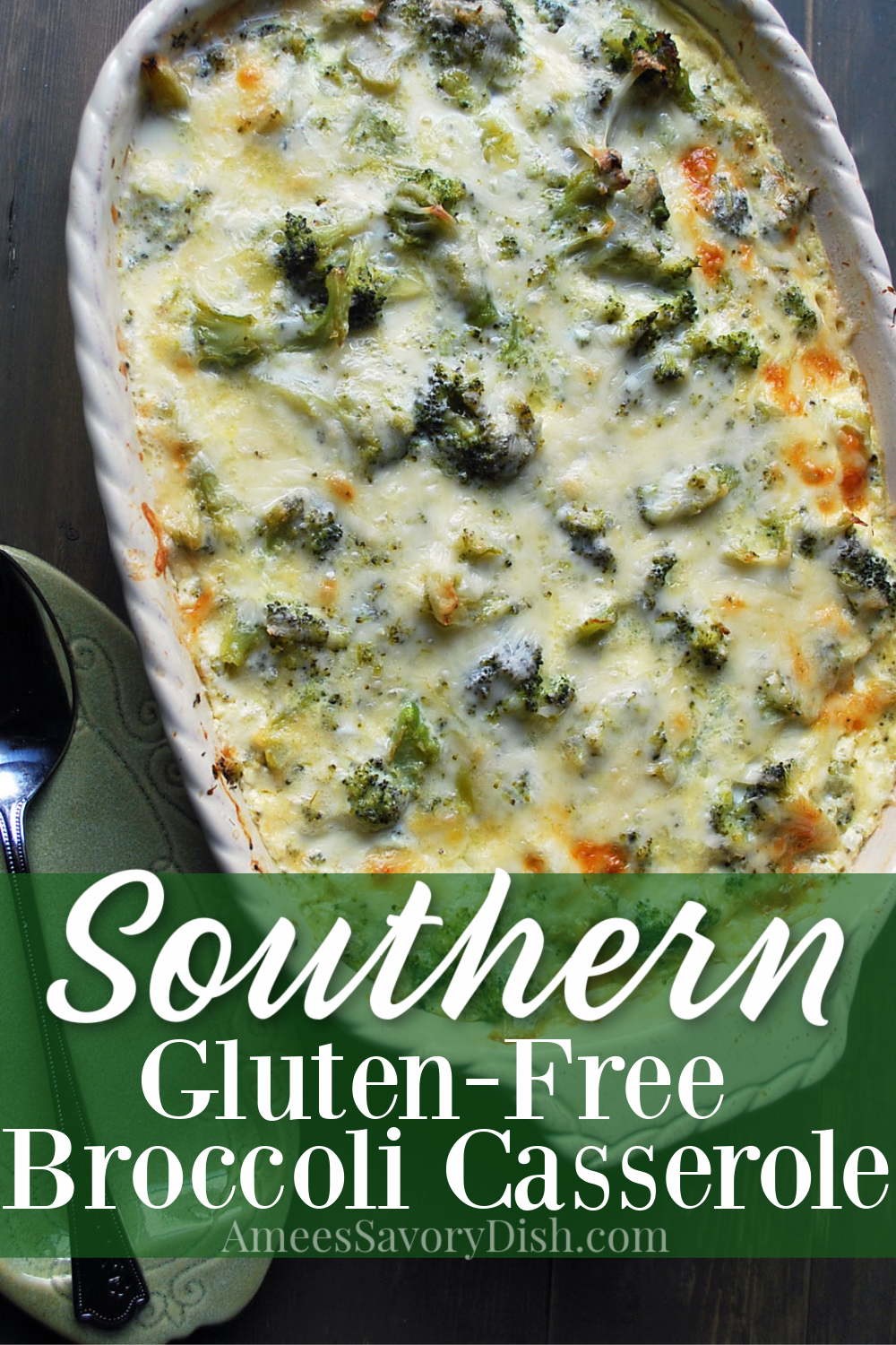 ThisGluten-Free Broccoli Casserole is a delicious and easy broccoli casserole recipe made with fresh broccoli florets, white cheddar cheese, eggs, sour cream, and butter. It's a perfect flavorful side dish for any meal! #glutenfree #glutenfreebroccolicasserole #broccolicasserole #glutenfreesidedish via @Ameessavorydish