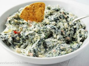 Creamy Spinach Dip bowl