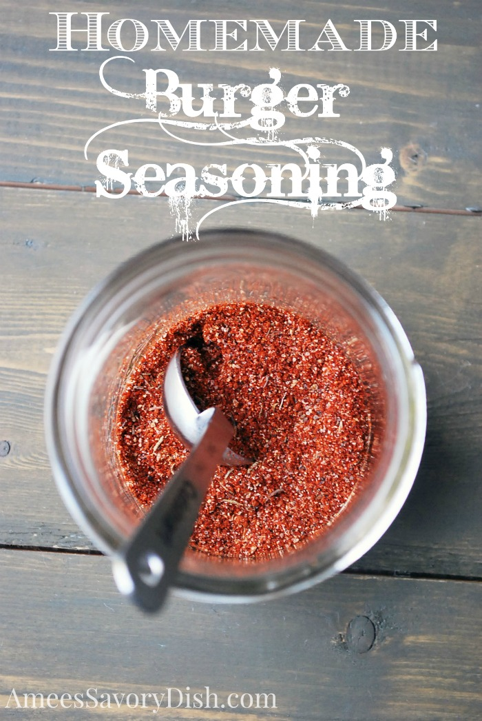 Love a juicy, flavorful burger hot off the grill?  Then you'll love this homemade burger seasoning blend for your next summer cookout!