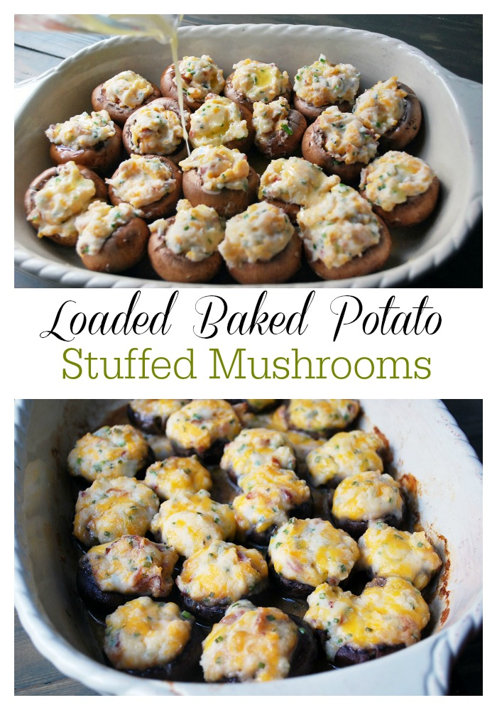 Loaded Baked Potato Stuffed Mushrooms