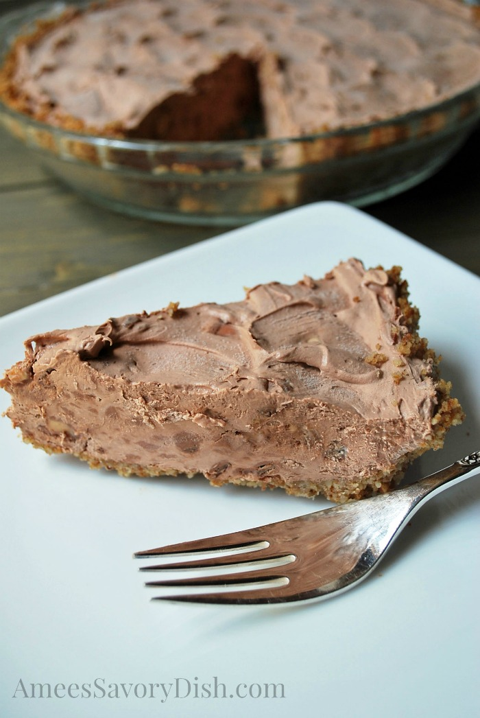 Whipped Chocolate Toffee Pecan Pie