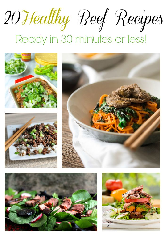 20 beef recipes collage