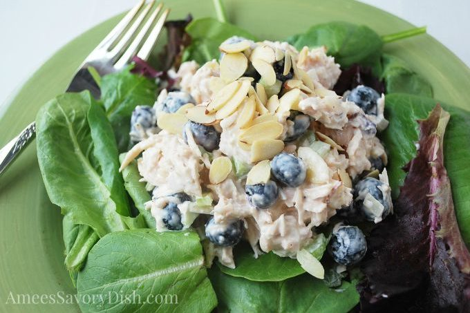 Blueberry Almond Chicken Salad #TheRecipeRedux