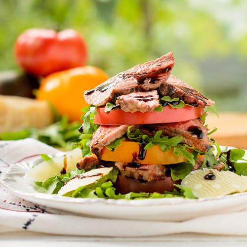 Steak Heirloom Tomato Salad