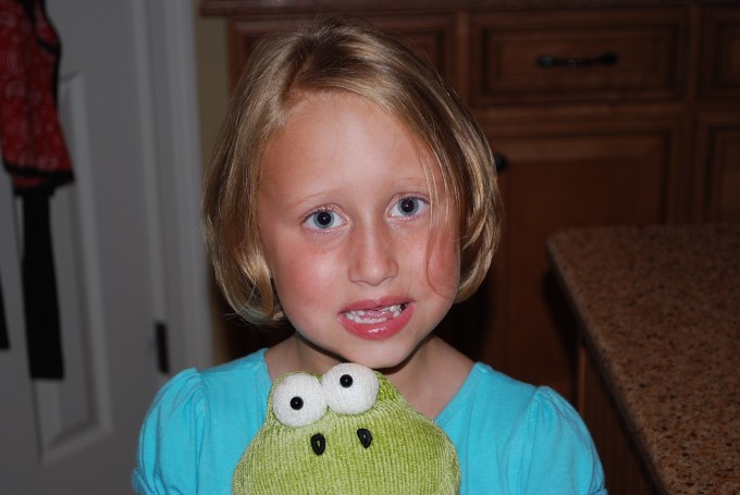 Lauren and froggy