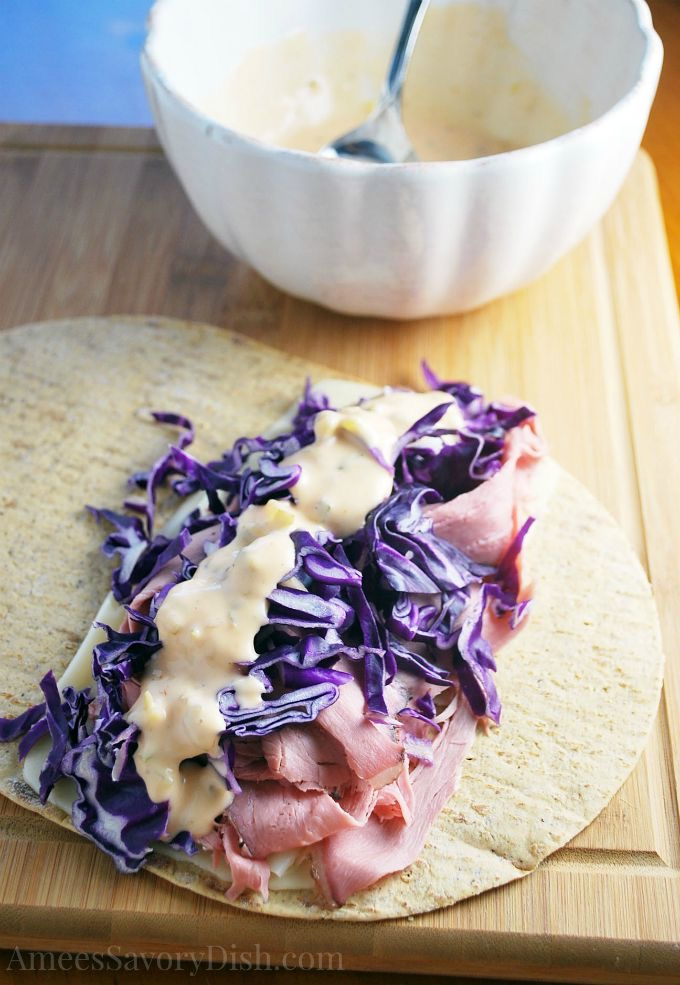 Tasty Low-Carb Reuben Wrap Sandwich