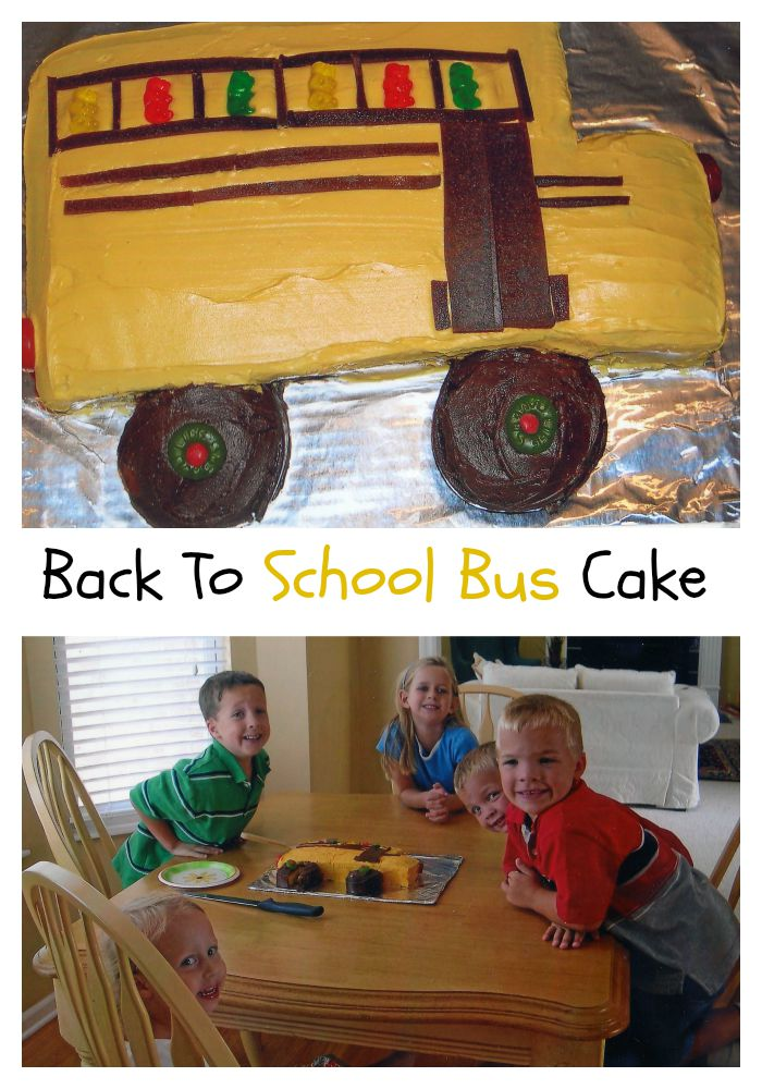 A Fun and easy School Bus Cake recipe for back-to-school party