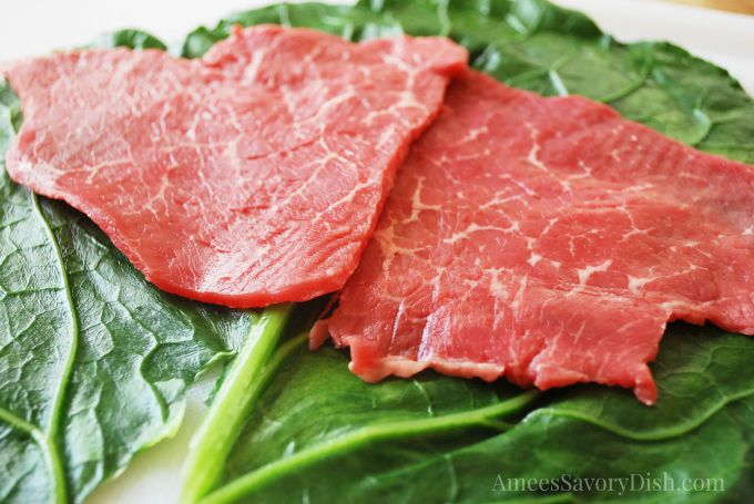 Sirloin for collard rolls