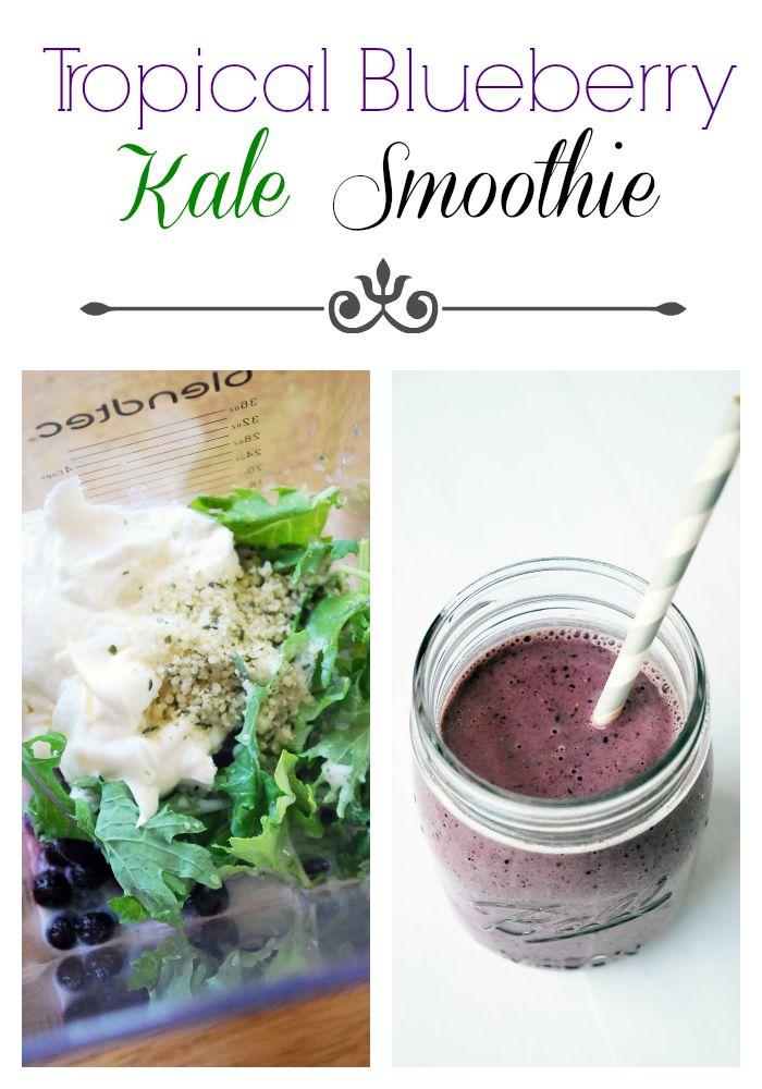 Tropical Blueberry Kale Smoothie recipe