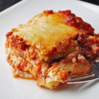 Homemade low carb zucchini lasagna