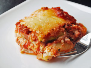 Homemade low carb zucchini lasagna