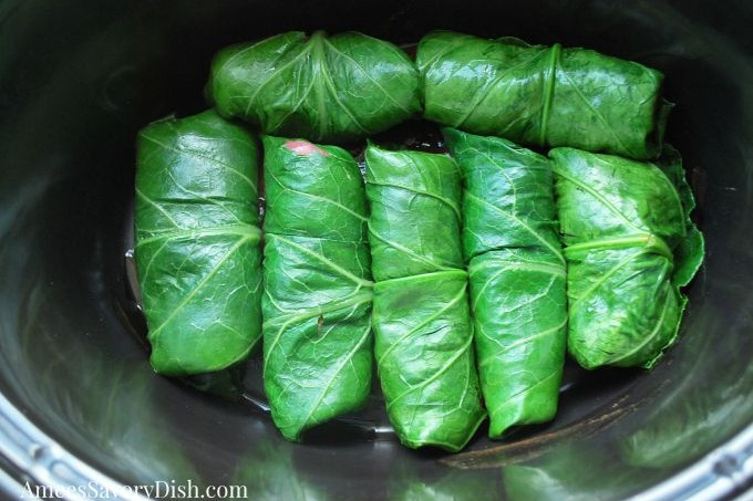 Slow Cooker Steak Stuffed Collard Rolls #TheRecipeReDux
