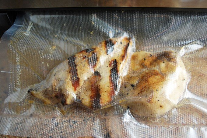 Sealed chicken Foodsaver