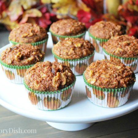 Platter of apple carrot muffins