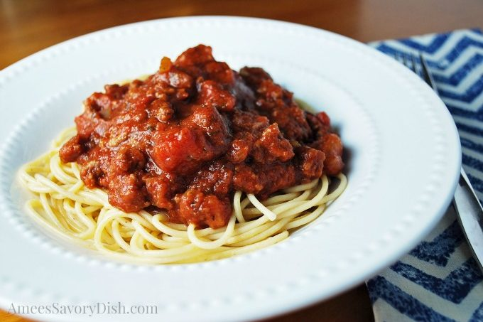 A family recipe for an easy and delicious homemade spaghetti sauce with a unique southern twist. This is a kid favorite in our house!