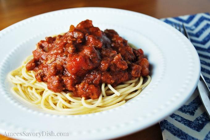 Homemade Spaghetti sauce in bowl