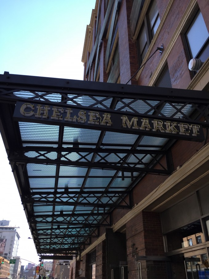 Outdoor sign for Chelsea Market in NYC