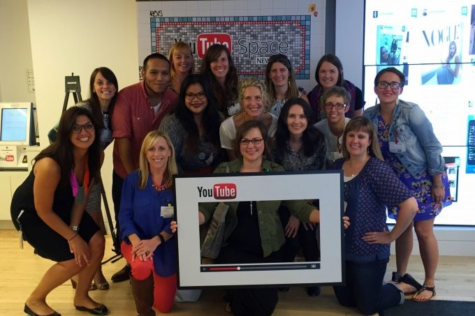 Group photo at YouTube