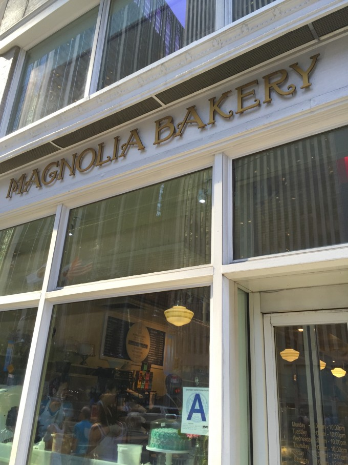 Magnolia Bakery storefront in NYC