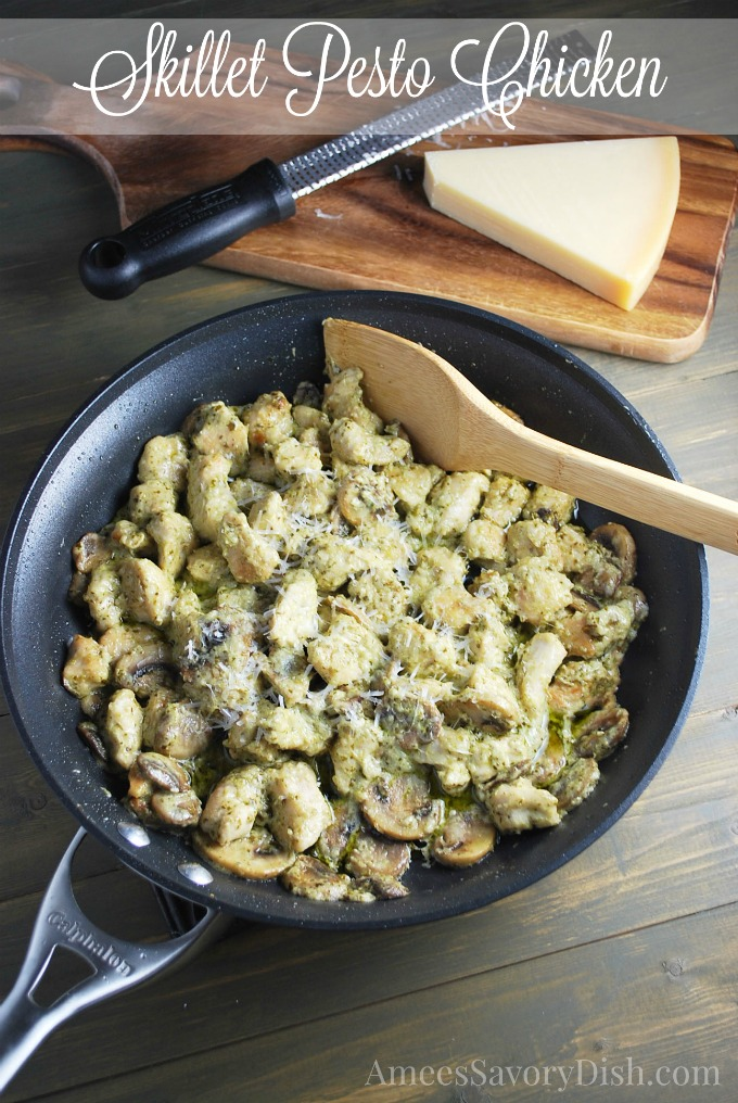 Skillet Pesto Chicken