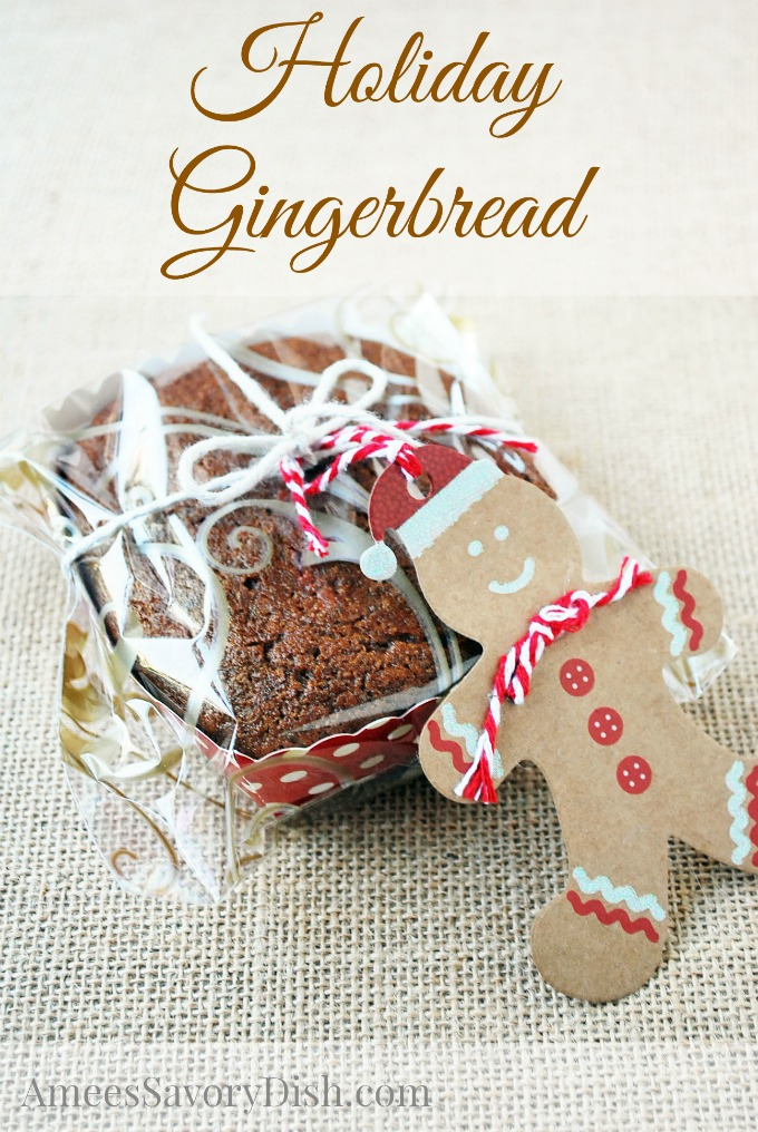 How to package Soft Old Fashioned Gingerbread in gift bags