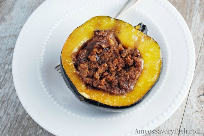Slow Cooker Stuffed Acorn Squash & Hamilton Beach #Giveaway