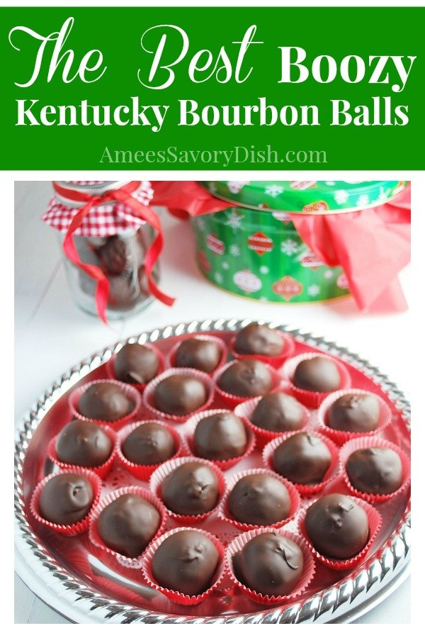 A family favorite recipe for kentucky bourbon balls made with semi sweet chocolate, confectioners sugar, bourbon and walnuts for a holiday treat. #bourbonballs #kentuckybourbonballs #christmasrecipes via @Ameecooks