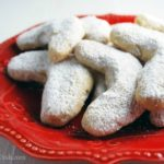 Easy hazelnut crescent Christmas cookies are a delicate holiday cookie made with unbleached flour, ground hazelnuts, butter, vanilla and sugar.