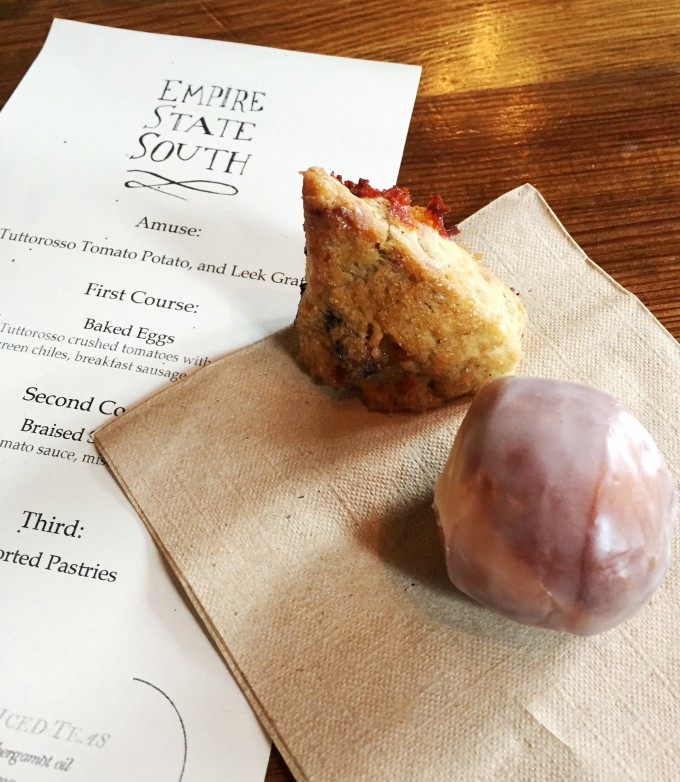 Empire State South menu and pastry