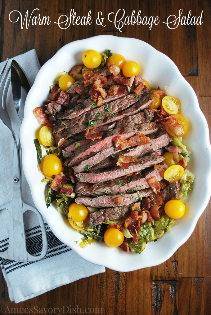 Warm Steak & Cabbage Salad