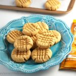 Healthier Peanut Butter Protein Cookies are delicious and made with muscle-building whey protein on a plate