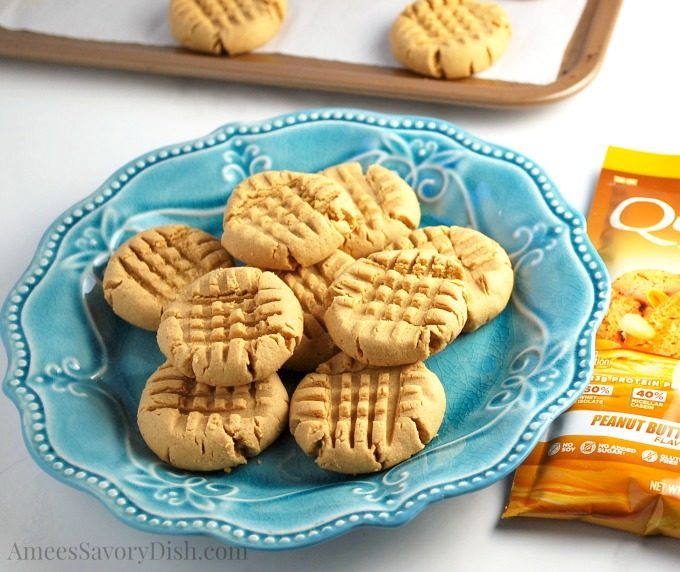 Healthier Peanut Butter Protein Cookies are delicious and made with muscle-building whey protein