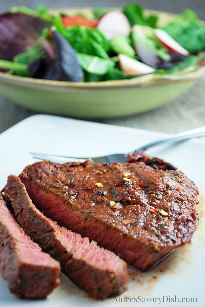 Red Chile Coriander Steaks recipe