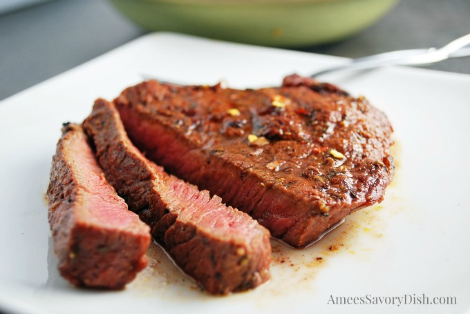 Red Chile-Coriander steaks