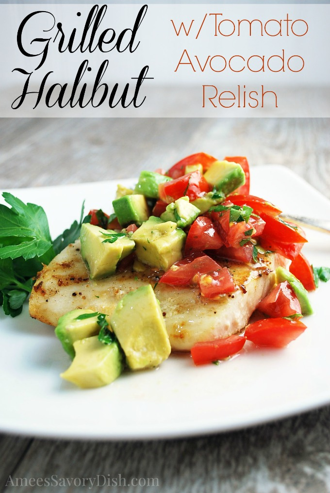 Halibut with Avocado Relish