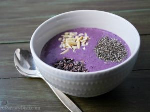 Blueberry Chocolate Smoothie Bowl feature