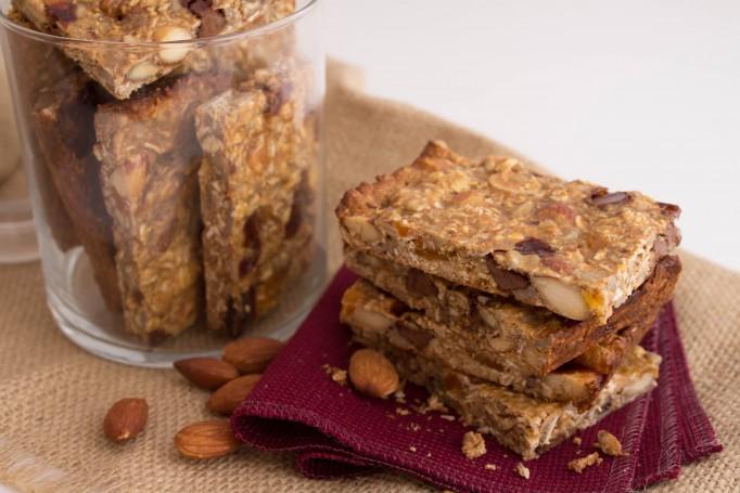 nutty protein granola bars