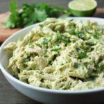 bowl of avocado chicken salad
