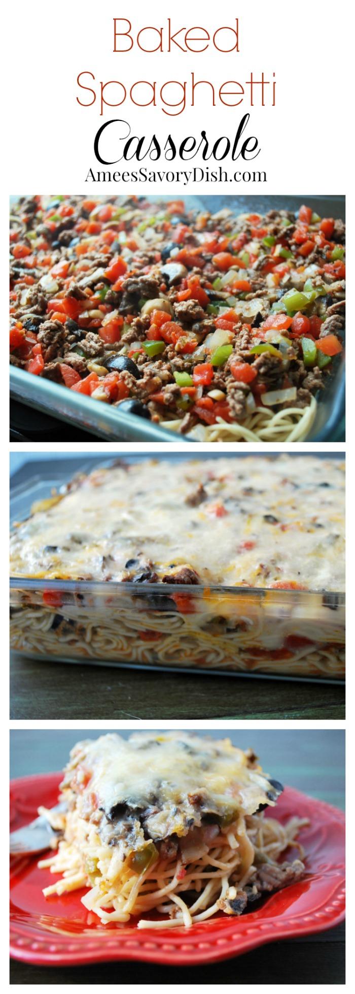 Baked Spaghetti Casserole Collage