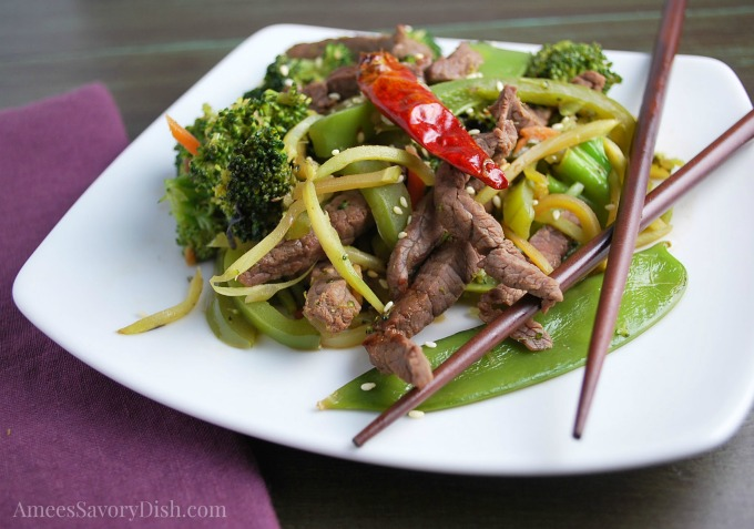 delicious steak stir fry